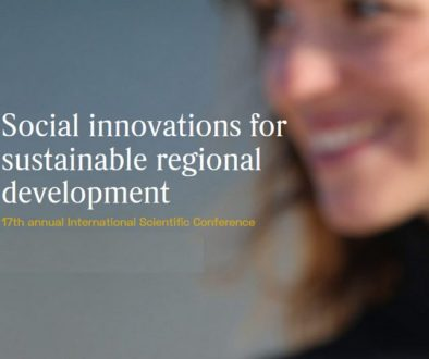 SOCIAL INNOVATIONS FOR SUSTAINABLE REGIONAL DEVELOPMENT